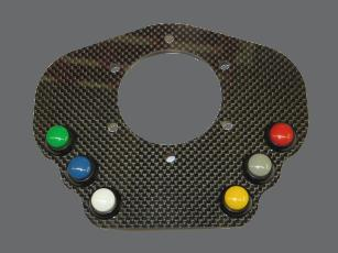 Carbon fibre button plate