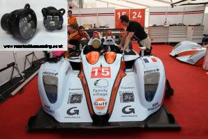 Oak LMP2 with Racetech Harnessing LED headlamps